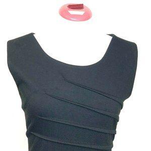 Calvin Klein Dress 12 Black Sheath Abstrac…